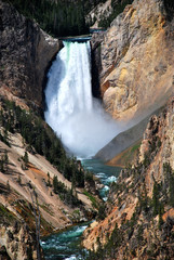 Wasserfall im Yellowstone Nationpark - Wyoming