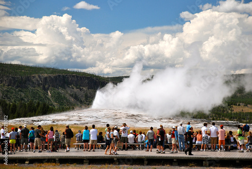 Old Faithful im Yellowstone Nationalpark - Wyoming