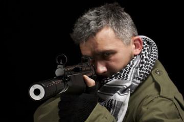 Terrorist whit gun