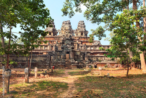 panoramic view of ancient temple Ta Keo at Angkor Wat