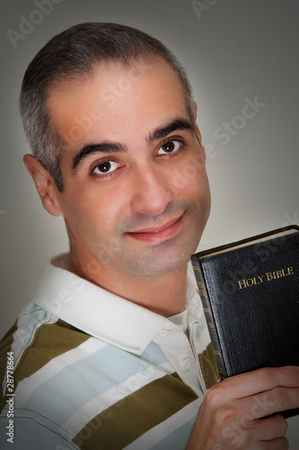 Senior Guy Holding His Holy Bible