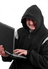 Hacker smiling