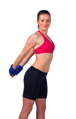 young woman exercise