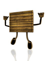 3d figure of wooden texture