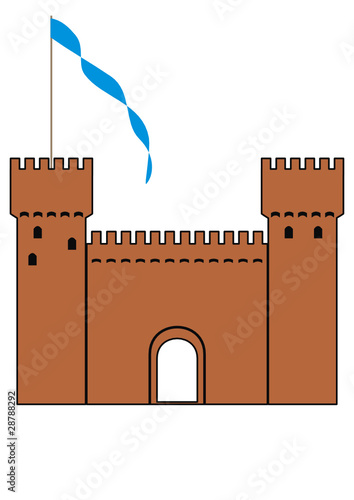 Vector  knight's castle of silhouette