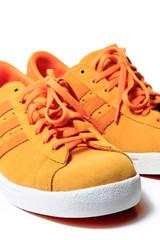 Orange shoe, isolated on white