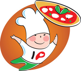 I love pizza logo - logo pizzeria
