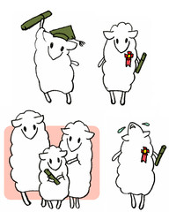 graduation-sheep