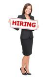 Jobs - businesswoman hiring poster