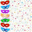 Maschere Multicolori Fondo-Multicolored Masks Background-Vector