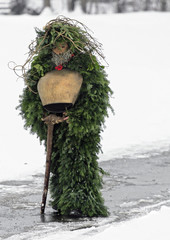 St Sylvester mummers perform in the village of Urnaesch