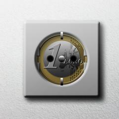 Eurosteckdose auf der Wand