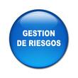 Boton brillante texto GESTION DE RIESGOS