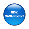 Boton brillante texto RISK MANAGEMENT