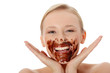 Young woman in chocolate