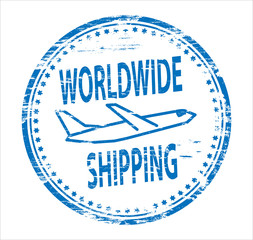 Worldwide Shipping Rubber Stamp