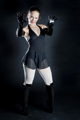 ballet dancer in black clothes