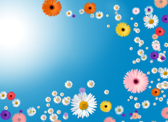 Hintergrund Frühlingsblüten