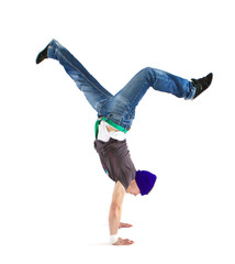 Cool dancer showing his skills