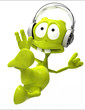 dj alien cartoon karate jump