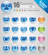 Glossy spheres - Office and Business icons 02