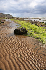 Sand patterns on Robin Hoods Bay beach