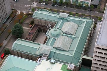 Bank of Japan von oben - Yen - Yensymbol