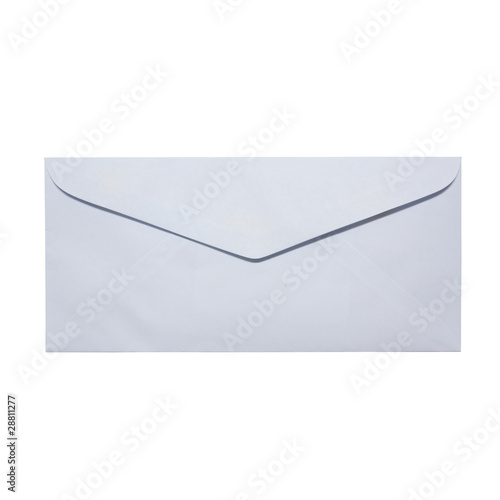 white close envelope on white background