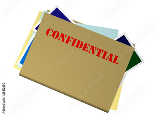 Bulging File Marked Confidential