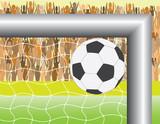 football (soccer) goal poster