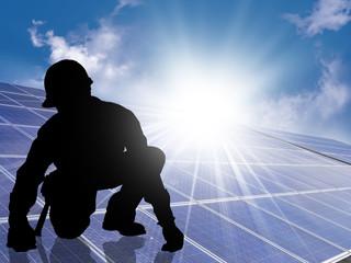 Operaio fotovoltaico