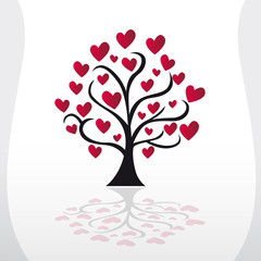illustration arbre coeur