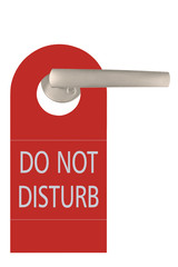 Large Red Isolated Do Not Disturb Tag