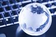 Globe and computer