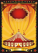 Nice poster orange and black circus poster