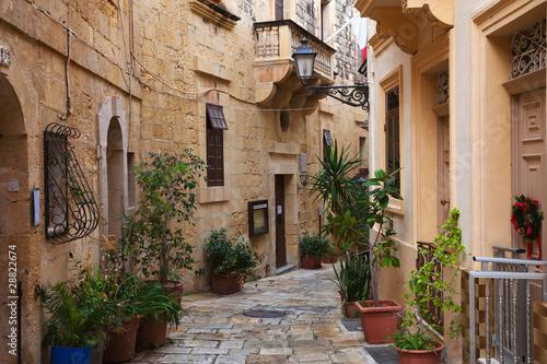 Street in   old mediterranean town