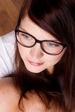 portrate of beauty young woman in eyeglasses