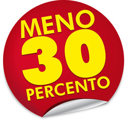 Sconto 30 percento
