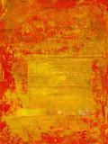 Fototapety roter lack abgeblättert auf goldtextur