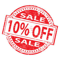 10 % Off Sale Rubber Stamp