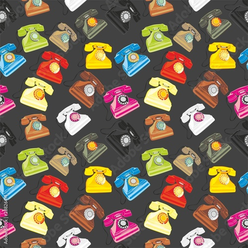 vector illustration seamless pattern isolated phones