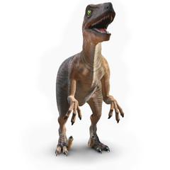3d Velociraptor front view