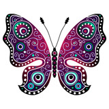 Bright abstract butterfly