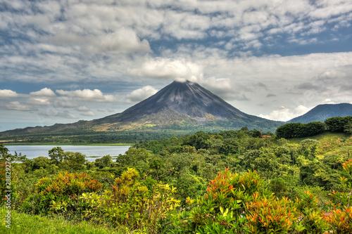 Fotobehang Vulkaan Vulkan, Himmel