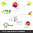 8 colorful, positive and trendy business logos