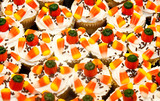 Colorfully Decorated Halloween Cupcakes