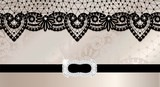 Background with lace and brooch poster