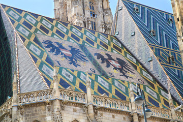 Details of the St. Stephen Cathedral's roof,Vienna