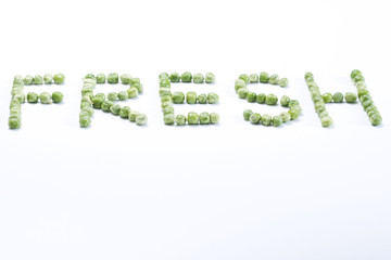 Word fresh created from peas
