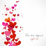 Fototapety Cute hearts background